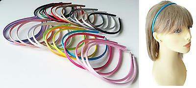 *28 Gorgeous colour options* 8mm wide satin fabric covered headband - aliceband