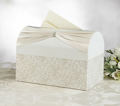 Lillian Rose Wedding Card Chest-Ivory Vine Or White Satin-Free Shipping!