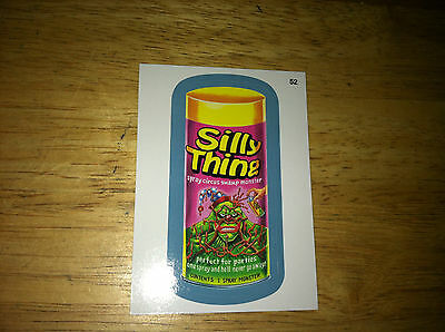 Wacky Packages Ans11 11 Blue Border Sticker Silly Swamp Thing Berni Wrightson 52