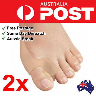2x Flesh Colour Silicone Bunion Protector Toe Separator Straightener Pain Relief