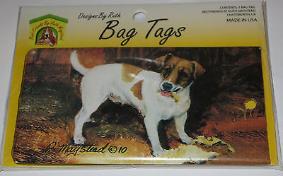 Jack Russell Terrier Bag Tag Silicone Suitcase Travel Luggage Dogs USA Made New