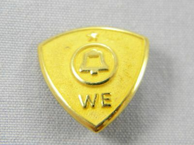 Western Electric Telephone 1 Star Service Pin 10k Yellow Gold 1.1dwt / 1.8g