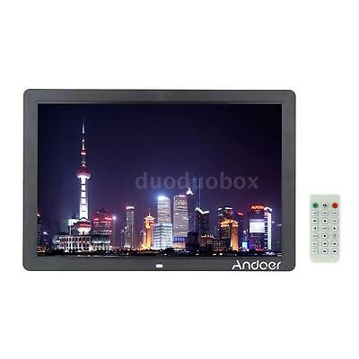 17'' 1080P FHD LED 1440*900 Digital Photo Frame MP3 MP4 Movie Player Clock U0U6