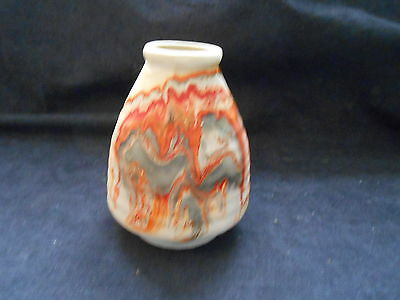 Vintage Nemadji River Pottery Red/Black Handmade/Painted