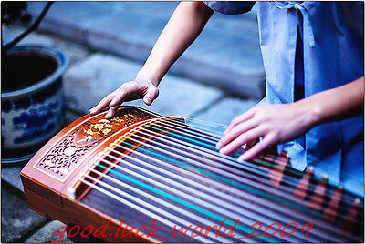 "Handmade 64""Red Sandalwood Traditional Chinese musical instrument Chinese Zither"