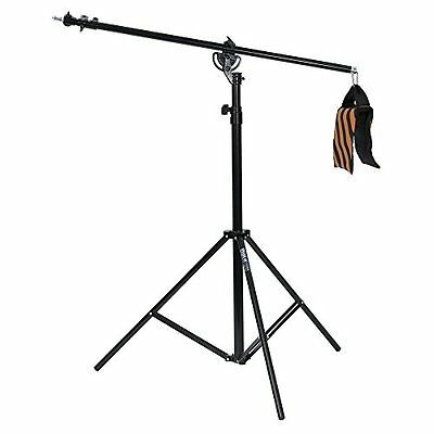 Phot-R 4 m Heavy Duty Photo Studio 2-in-1 Combi Light Boom Stand with Sandbag