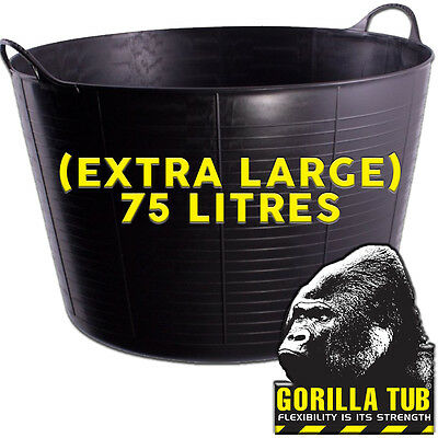 Black Gorilla EXTRA LARGE Strong Builders Flexible Plastic Recycled Tub Bucket