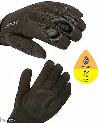 SealSkinz Dragon Eye Waterproof Touchscreen Gloves Black Mountain Bike Cycling