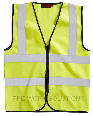 Blackrock Yellow ZIPPED Executive Hi Vis Vest High Viz Waistcoat (BHZEVY)