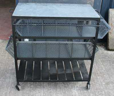 Heavy French Metal Industrial style Trolley. Variety of Uses.