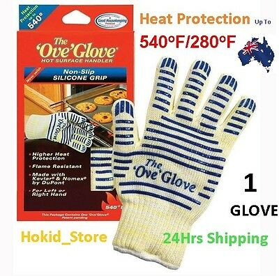 Heat Proof Resistant Cooking Kitchen Oven Mitt Glove 540°F Hot Surface Handler C