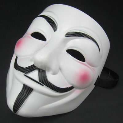 Guy Fawkes Maske V wie for Vendetta Mask Anti ACTA Occupy Anonymous Bewegung