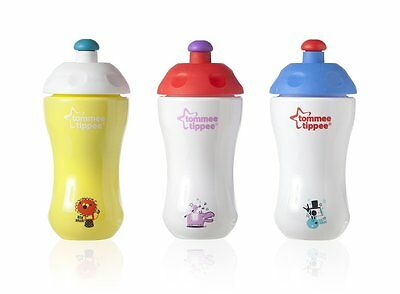 Tommee Tippee Explora  easy pop up spout Sports Bottle 12m+  3 colours  BPA FREE