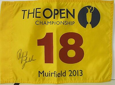 Phil Mickelson Signed Autographed The Open Championship Flag Jsa #y46500