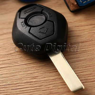 Replacement Blank Uncut Blade 2 Buttons Remote Key Fob Shell Case Cover for BMW