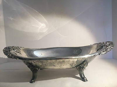 "Wallace Baroque by Wallace Large Oval Footed Centerpiece Bowl 222  16"" x 9 1/2"""