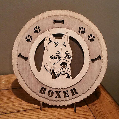 Boxer with Cropped Ears Wall Tribute