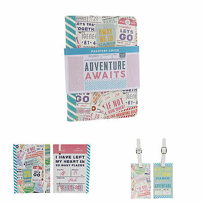 Adventure Awaits Passport Cover, Luggage Tag or Notebook Choice