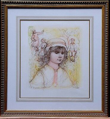 "Edna Hibel - Limited Edition, Lithigraph -""Becca""- Hand Signed by Artist"