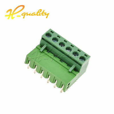 5 Pcs KF2EDGK KF-6P 6PIN Right Angle Plug-in Terminal Connector 5.08mm Pitch
