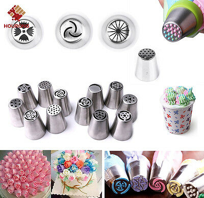 20 Styles Russian Metal Icing Piping Tulip Flower Nozzle Cake Cupcake Pastry Tip