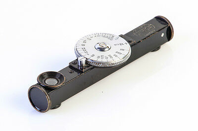 26-027 Leitz - Leica Fonor 12 Cm Black Paint Chrome Dial !! Engraving Till 0,5 M
