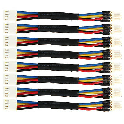 8pcs PC Fan Speed Reduce PWM 4 Pin Power Resistor Male to Female Cable Adapter
