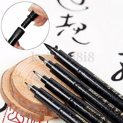 Chinese Japanese Calligraphy Shodo Brush Re-Ink Soft Tip Pen Writing Painting