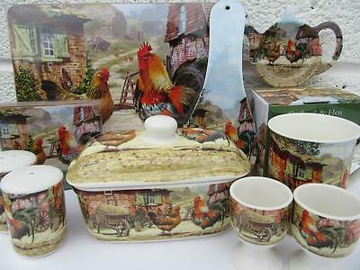 Cockerel and Hen Dining Items Cockerel & Hen Kitchen Items NEW