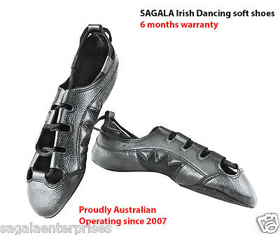 Pure Cowhide Leather Irish Dancing Pump Soft Shoes