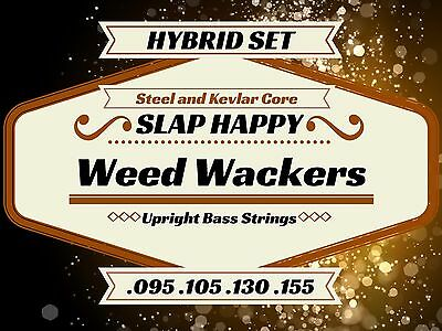 HYBRID Steel/Kevlar Nylon Synthetic Gut Upright Double Bass WEEDWACKER Strings