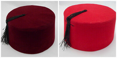 Fez Fes Turkish Ottoman Hat Tarboosh Ottoman Wear Bordaux Red FREE SHIPPING
