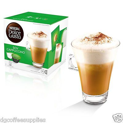Nescafe Dolce Gusto Soy Cappuccino Coffee Pods Loose 16/Order 8Servings UK stock
