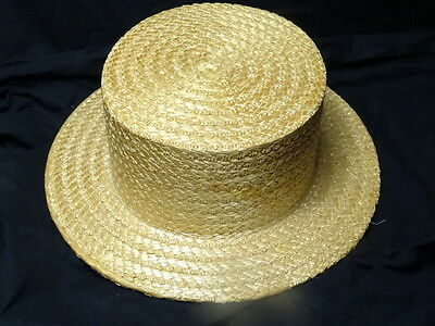 Vintage Style Gentleman's Summer Straw Hat Handmade By The York Hat Company