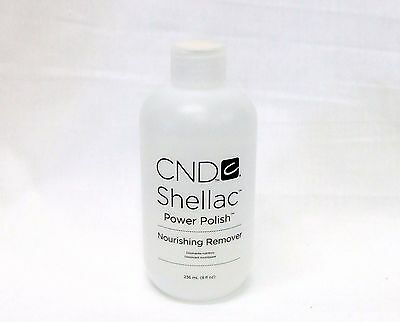CND Shellac Power Polish Nourishing Remover Remove all gels/acrylic 8oz/236mL