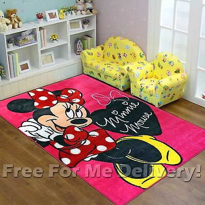 SUPER KIDS DISNEY MINNIE MOUSE PINK FUN FLOOR RUG (M) 133x200cm **FREE DELIVERY*