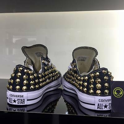 converse all star nere con borchie