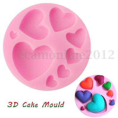 3D DIY STAMPO TORTA TORTIERA Silicone Dolci Cake Candy Baking Mold Mould Cuore