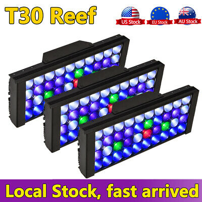 3PCS 165W LED Aquarium Marine Reef Light Dimmable Full Spectrum Coral SPS
