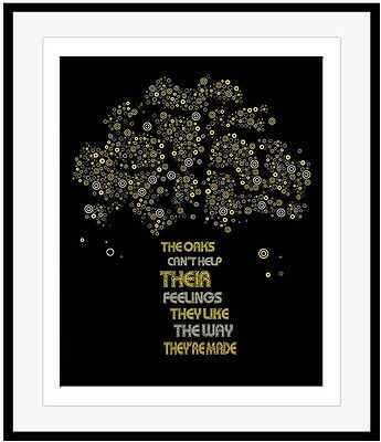THE RUSH band Poster THE TREES Song Lyrics Art Print Music Gift Wall Decor