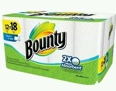 Two Bounty Select-A-Size White Paper Towels 12 Giant Rolls
