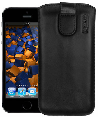 mumbi Ledertasche für Apple iPhone SE/5/5s/5c Tasche Hülle Etui Case Cover Handy