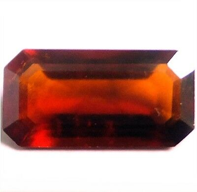 NATURAL AMAZING FLASHING RED GARNET LOOSE GEMSTONES (15 x 7.8 mm)  EMERALD CUT