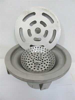 """Stainless Drains 15978, 10"""" Round Top Floor Drain, Pipe Size 4"""" - 316 Sch 10"""
