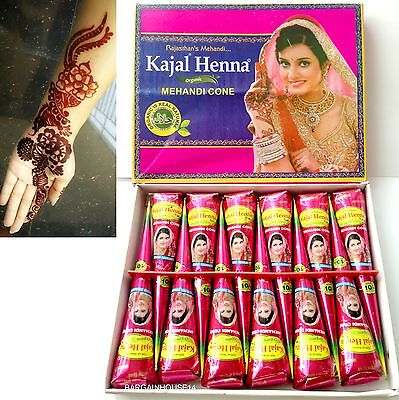 200  X Dark Brown Henna Mehndi Tattoo Cones Wholesale Price for bulk buy !!
