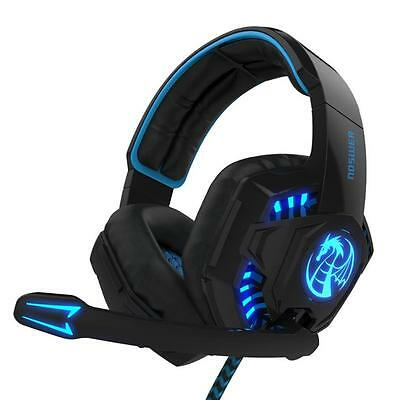 Noswer Professionale Gaming Headset luce LED Cuffie con microfono