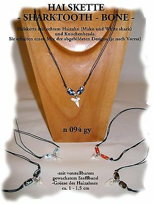 WHOLESALE 10 SHARK TOOTH NECKLACES LUCKY BEACH WATER SURFER TALISMAN / n094gy