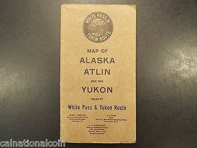 1917 Map of Alaska Atlin and the Yukon issued by White Pass and Yukon Route
