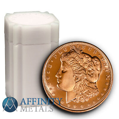 20 Coins-  Morgan Dollar 1 oz .999 Copper Bullion Rounds