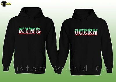 Couple Hoodie Mexican Style New King Queen His And Hers Couple Matching Clothes